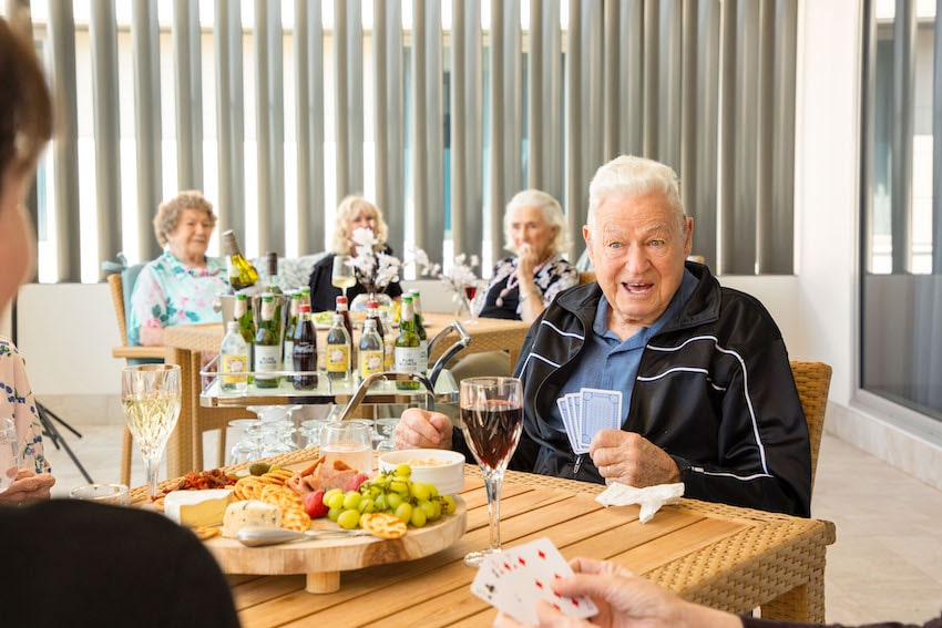 CraigCare-Ascot-Waters-Residential-Aged-Care-Rooms-Dining-Happy-Hour-Luxury-Living